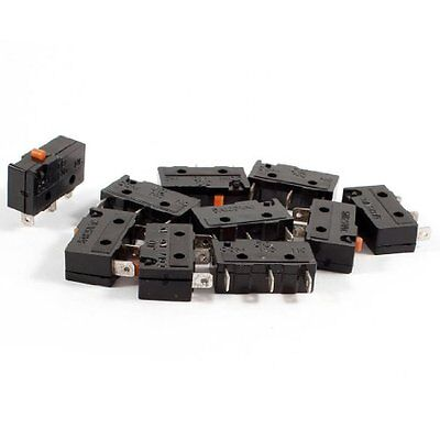 10 Pcs 3-Pin Terminals Momentary Action SPDT Micro Limit Switch 5A 125VAC