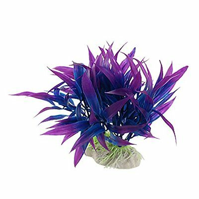 sourcingmap Plastic Aquarium Decor Grass/ Plant, Purple/ Blue