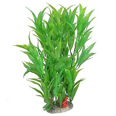 Sourcingmap Plastic Aquarium Ornamental Water Plant, 11-Inch, Green