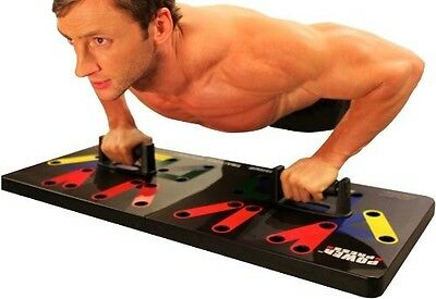 Complete Power Press Push Up Training System Arm Chest Workout Home Exercise Gym