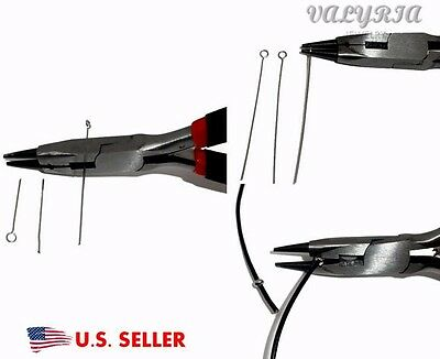 Stainless Steel 3 In 1 Rosary Pliers Round Nose Wire Cutter Jewelry Making Tool