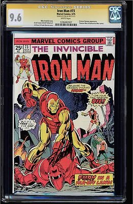 Iron Man #73 Cgc 9.6 White Pages Ss Stan Lee Signed Sig Series Cgc #1206482007