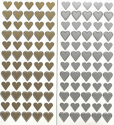 HEARTS Love Valentine Wedding PEEL OFF STICKERS Romance Cardmaking