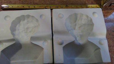 Unmarked Woman  Doll Head Ceramic Mold