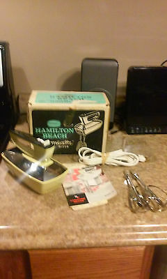 Vintage Hamilton Beach Super Mixette Hand Mixer Model 79-1 w/ Cord & Beaters