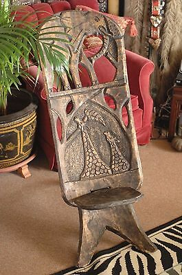 Old African Zimbabwean Elephant Chair …beautifully carved accent piece