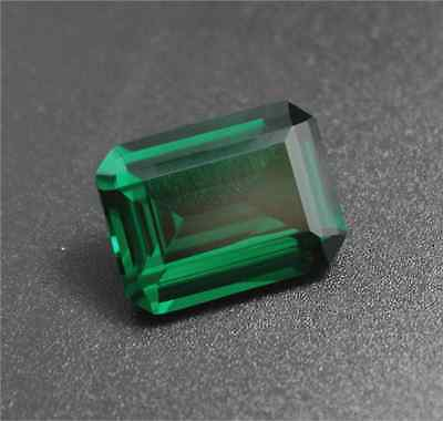 EXQUISITE EMERALD GREEN SAPPHIRE 9.12CT 10x14MM RECTANGLE CUT AAAA+ LOOSE GEMS