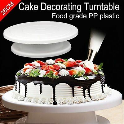 11 Rotating Revolving Cake Plate Decorating Turntable Kitchen Display Stand DB