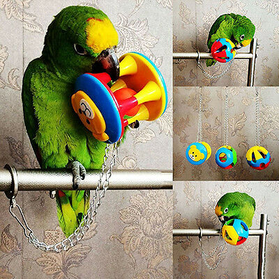 Pet Bird Plastic Chew Ball Chain Cage Toy For Parrot Cockatiel Parakeet Comely