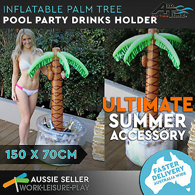 Giant Inflatable Palm Tree Cooler 150cm Hawaiin Drinks Beach Pool Party Airtime