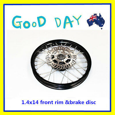"""14"""" inch 1.40-14 front rim wheel with disc for 125cc 140/150cc Trail Dirt Bike"""