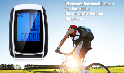 Wireless Bicycle  LED Computer Speedometer Stopwatch with Backlight waterproof