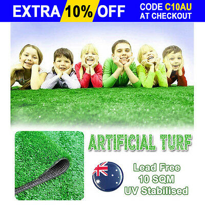 10 SQM Synthetic Artificial Grass Turf Olive Plastic Plant Fake Lawn Flooring AU