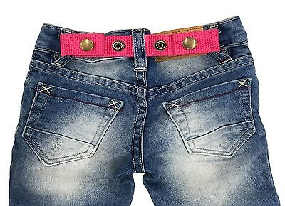 Sister Selected Adjustable Snap Belt for Baby&Toddler Boy & Girl Pants. (Pink)