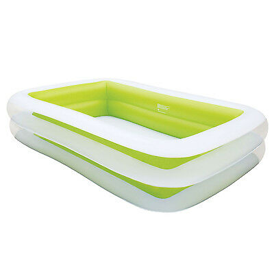Inflatable Pool Rectangular Family Large Deep Outdoor Green 262 x 175 x 51 cm