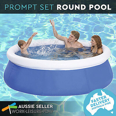 Inflatable Pool Prompt Set Up Round Family Deep Outdoor Blue 240 X 63 cm