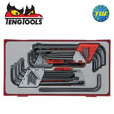 Teng 28pc Hex Allen Key Tool Set with Star Torx - Tool Control System Tray Case