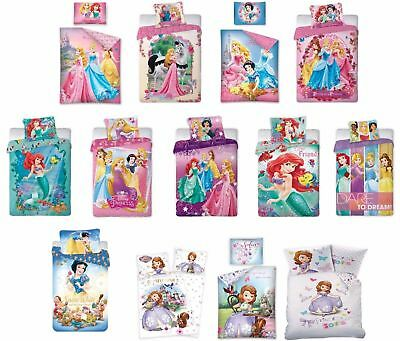 Disney Princess Ariel Sofia Rapunzel Single Duvet Cover Bedding Set 100% cotton