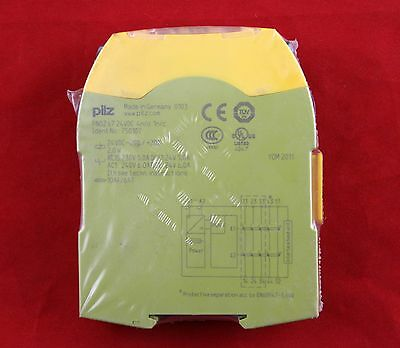 Pilz 750107 , PNOZ s7 24VDC 4n/o 1n/c Safety Protection Relay 4PST-NO  6A 2W DIN