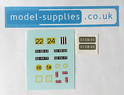Dinky 683 Chieftain Tank Reproduction Waterslide Transfers & Stickers Set