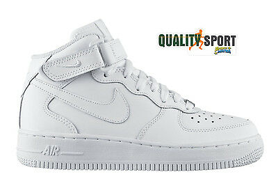 air force 1 mid bianco uomo