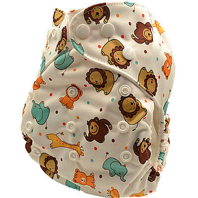 Boy's Adjustable Waterproof Washable Modern Cloth Nappies Nappy Diaper (D86)