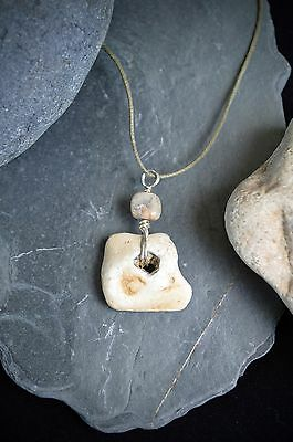 Hag Stone Pendant Fairy or Wish Stone Talisman Wiccan Pagan Witches Stone