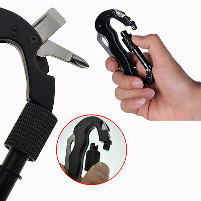 Multifunction Knife Key Holder Carabiner For Outdoor Camping Climbing Survival