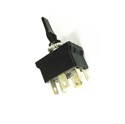 Black 6Pin DPDT 3Position 12mm ON-OFF Momentary Toggle Switch DC12V 20A NEW