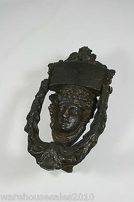 Victorian Cast Iron Door knocker Womans Head