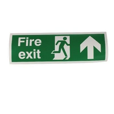 Signs and Labels Safety Sign Fire Exit Up 150x450mm Self-Adhesive EB09A/S