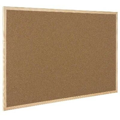 Q-Connect Cork Notice Board with Wooden Frame 400x600mm