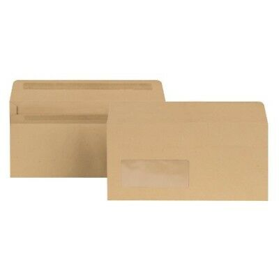 New Guardian Envelope DL Window 80gsm Manilla Self-Seal Pack of 1000