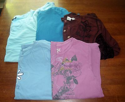 Women's 2X-XXL Clothing Lot Of 5 TOPS ~Merona~Cable & Gage~Positivities~MORE GUC
