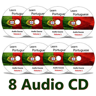 Learn to speak PORTUGUESE - Complete Language Training Course on 8 AUDIO CDs
