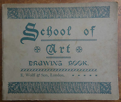Antique Drawing / Sketch Book (1895-1896) Study, Class, Perspective, Pencil