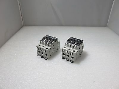 Wohner AES 1x38 Fuse Holder 32A 690V, Block of 3 (Lot of 2)