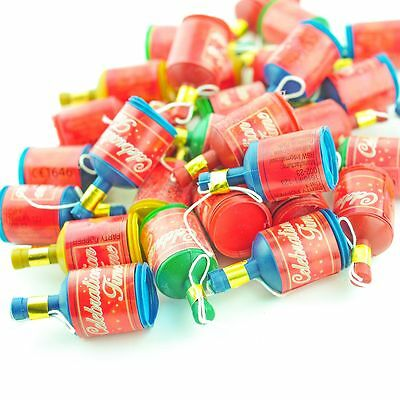 75 Red Colour Assorted Party Poppers Fancy Dress Hen Stag Gift Bag Favours