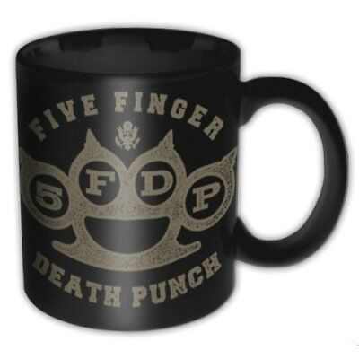 Five Finger Death Punch FFDP Band Logo Black Brass Knuckle Coffee Mug Official
