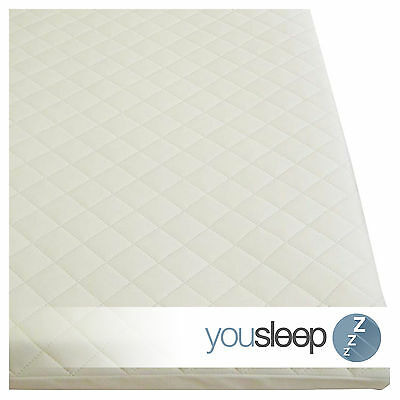 Premium Cot Bed Mattress Baby Toddler Foam Mattress Quilted Cover Size 120x60x13