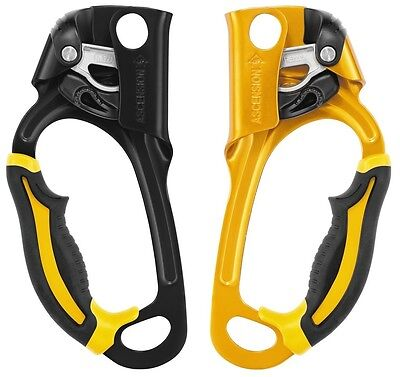 Petzl Ascension Handled Jammer Access Climbing Wall Right & Left Rope Grip Grab