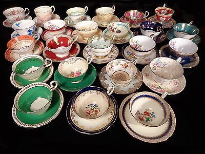 Lot of Fine China Aynsley Paragon Royal Albert and others 48pcs Late 1930s