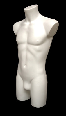 """High Quality Sports/swimwear Male Mannequin Torso Body Form Display White 36"""""""