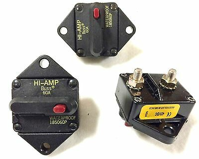 (Lot of 5pcs)Bussman DC Circuit Breaker 60 Amp Surface Mount Waterproof 185060P