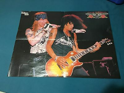 Vintage Metal Hammer Two Sided Poster Guns N Roses Aerosmith