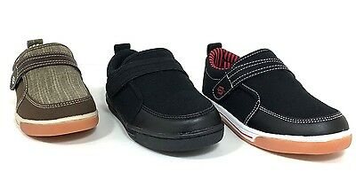 Boys Dream Seek 2138 Kids Casual Fastners School Shoes in White//Black /& Black