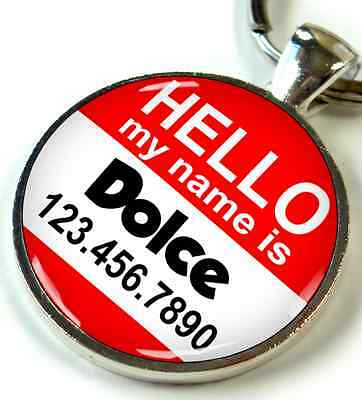 Hello My Name is / Round 1 inch Pet ID Tags custom dog cat