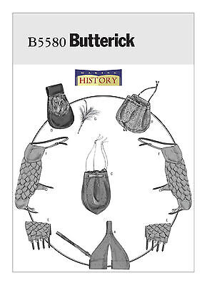Renaissance Accessory PATTERN Making History Butterick 5580 Medieval Bracers Bag