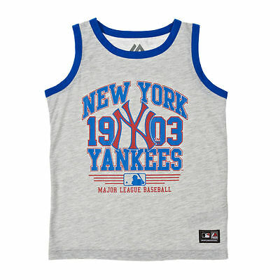 Majestic Athletic New York Yankees GREY Vest OFFICIAL BASEBALL TOP BOYS BNWT