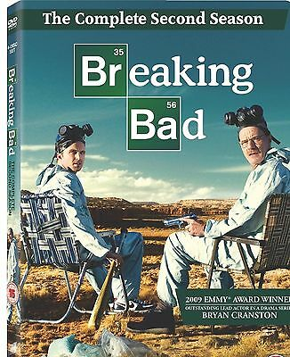 BREAKING BAD COMPLETE SERIES 2 DVD Brand New and Sealed Season UK Release